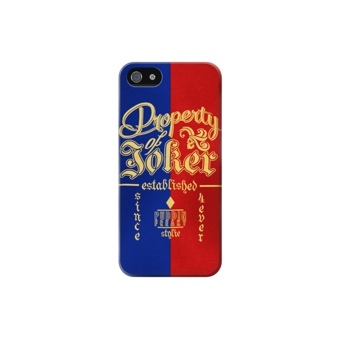 Printed Property of Joker Puddin Freaky Style Iphone 5 Case