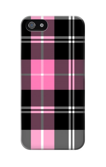 Printed Pink Plaid Pattern Iphone 5 Case