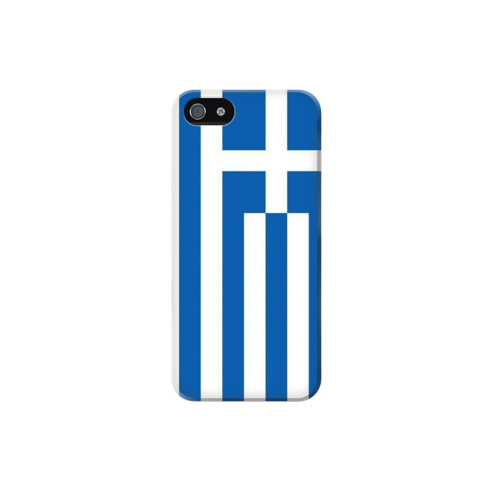 Printed Flag of Greece Iphone 5 Case