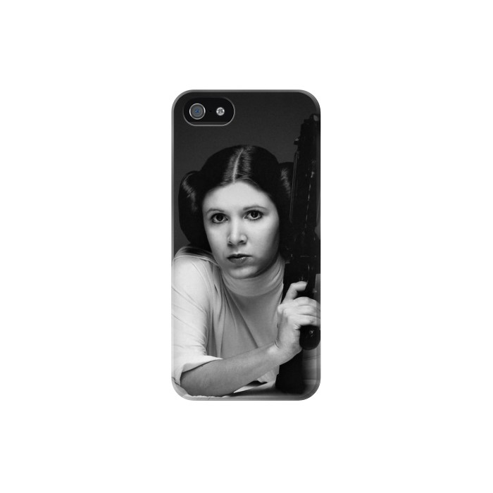Printed Princess Leia Carrie Fisher Iphone 5 Case