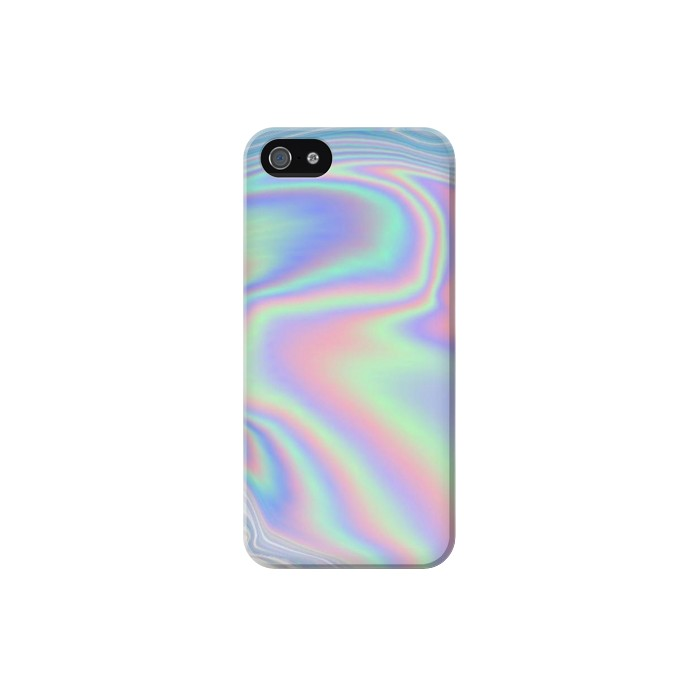 Printed Pastel Holographic Photo Printed Iphone 5 Case