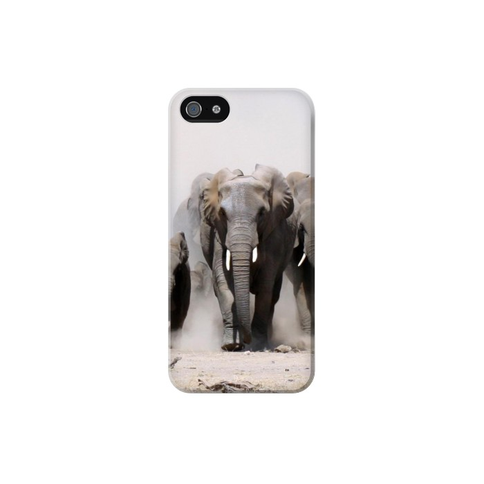 Printed African Elephant Iphone 5 Case