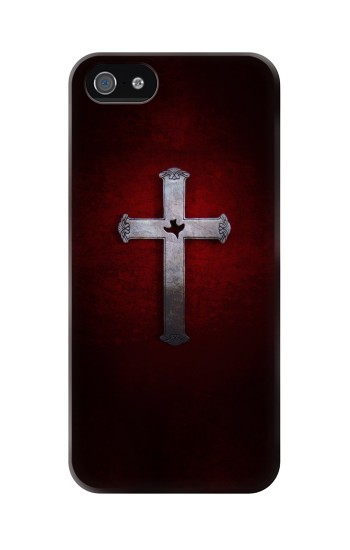 Printed Christian Cross Iphone 5 Case