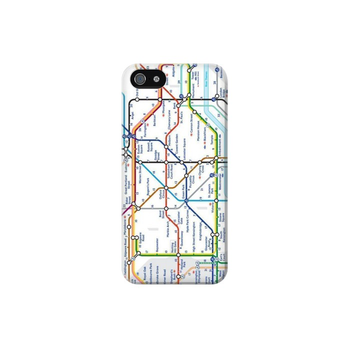 Printed London Underground Map Iphone 5 Case