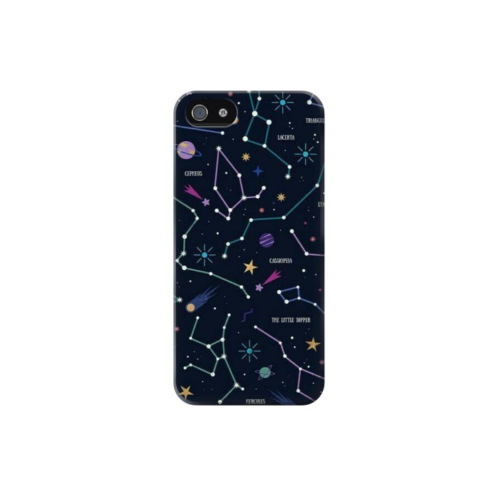 Printed Star Map Zodiac Constellations Iphone 5 Case