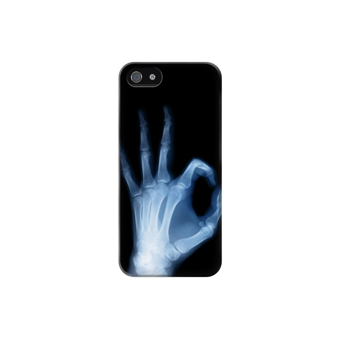 Printed X-Ray Hand Sign OK Iphone 5 Case