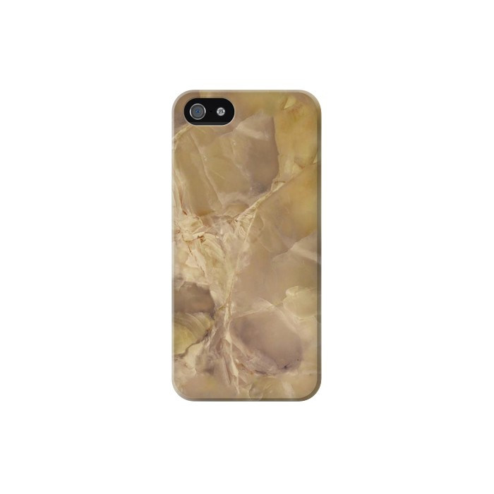 Printed Yellow Marble Stone Iphone 5 Case