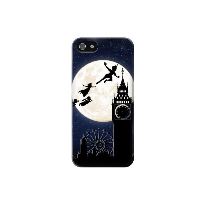 Printed Peter Pan Fly Fullmoon Night Iphone 5 Case