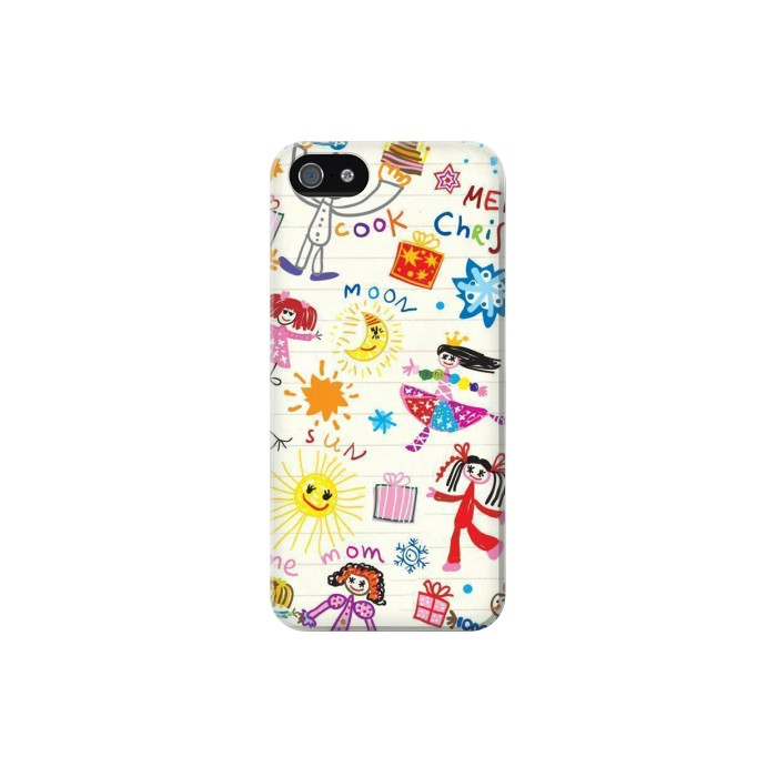 Printed Kids Drawing Iphone 5 Case