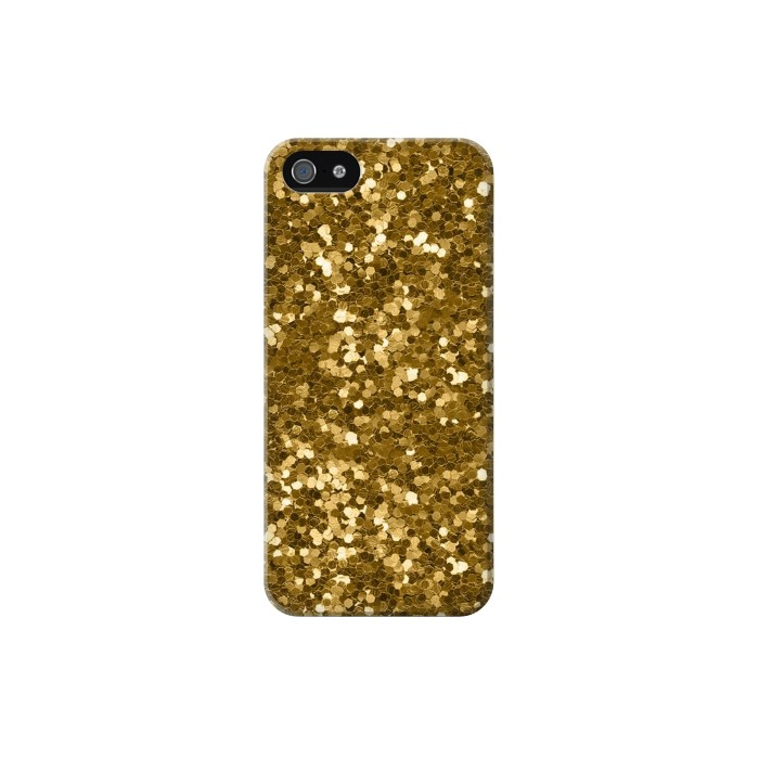 Printed Gold Glitter Graphic Print Iphone 5 Case