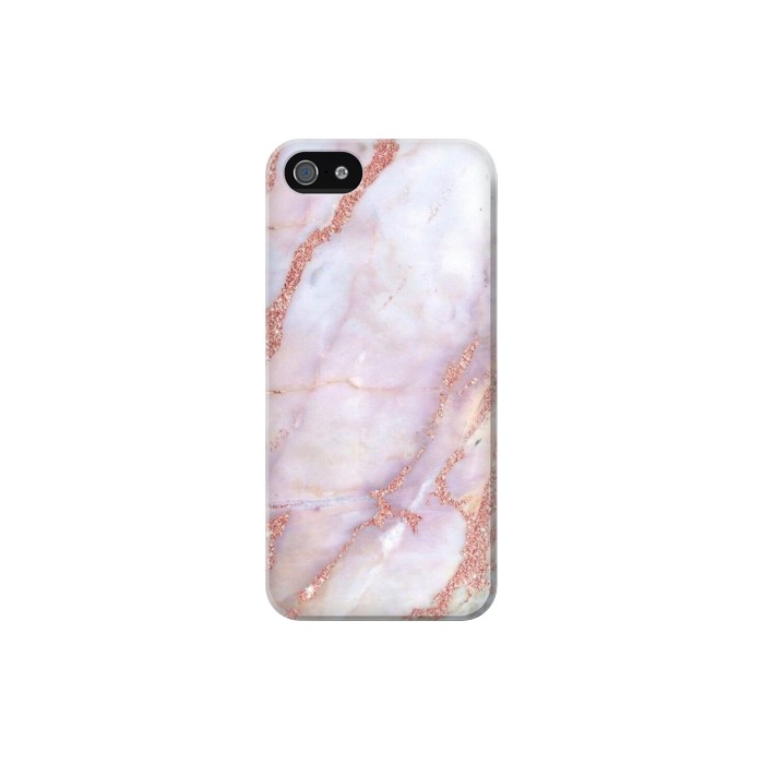 Printed Soft Pink Marble Graphic Print Iphone 5 Case
