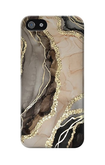 Printed Marble Gold Graphic Printed Iphone 5 Case
