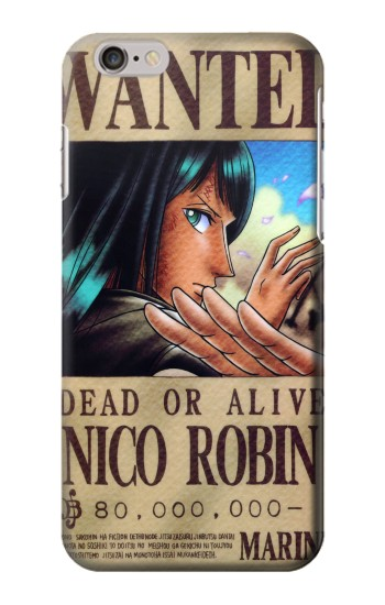 Printed One Piece Nico Robin Wanted Poster Iphone 6 Case