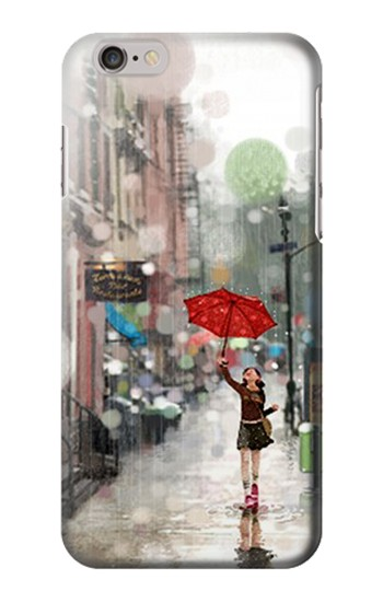 Printed Girl in The Rain Iphone 6 Case