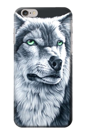 Printed Grim White Wolf Iphone 6 Case