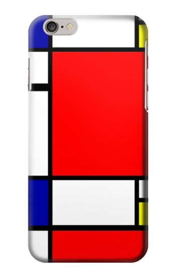 Printed Composition Red Blue Yellow Iphone 6 Case