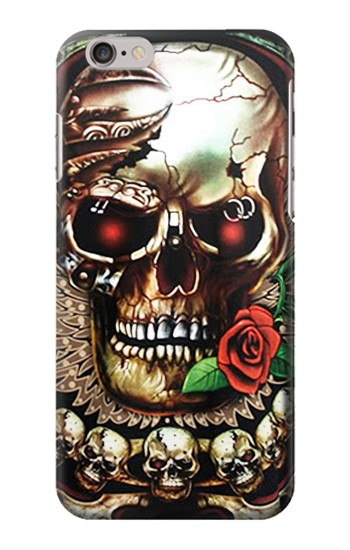 Printed Skull Wing Rose Punk Iphone 6 Case