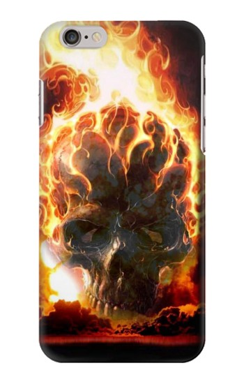 Printed Hell Fire Skull Iphone 6 Case