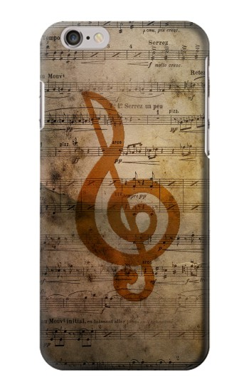 IPHONE 6 Sheet Music Notes Case Cover