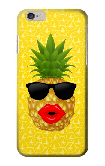 Printed Pineapple Black Sunglasses Iphone 6 Case