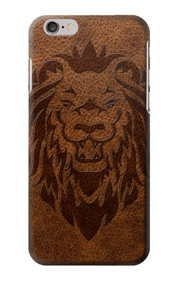 Printed Leo Tattoo Brown Leather Iphone 6 Case