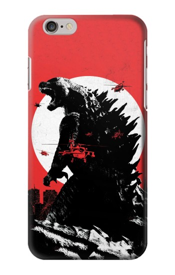 Printed Godzilla Japan Flag Iphone 6 Case