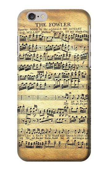Printed The Fowler Mozart Music Sheet Iphone 6 Case