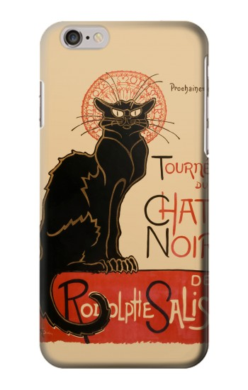 Printed Chat Noir The Black Cat Iphone 6 Case