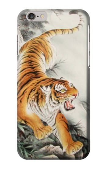 Printed Chinese Tiger Tattoo Painting Iphone 6 Case