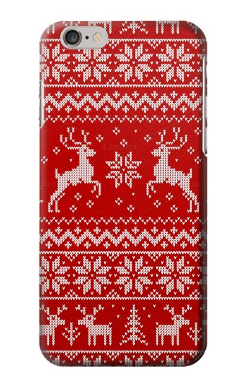 Printed Christmas Reindeer Knitted Pattern Iphone 6 Case