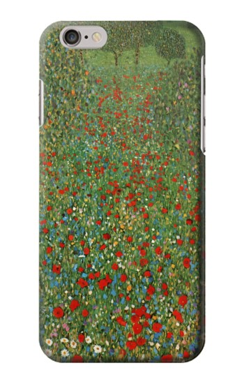 Printed Gustav Klimt Poppy Field Iphone 6 Case