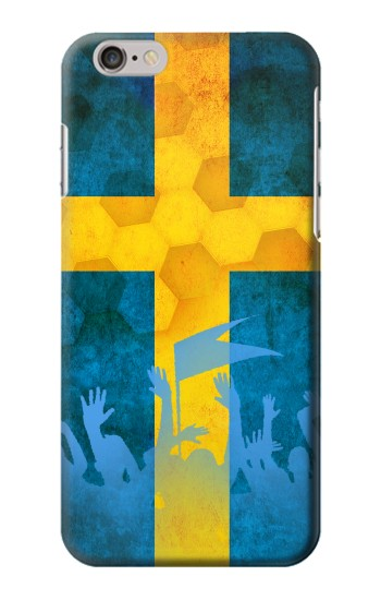 Printed Sweden Football Flag Iphone 6 Case