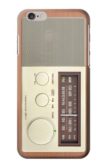 Printed FM AM Wooden Receiver Graphic Iphone 6 Case