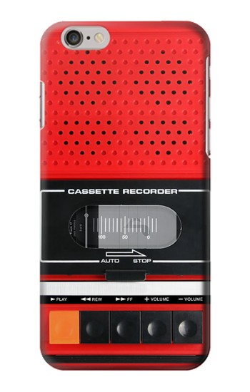 Printed Red Cassette Recorder Graphic Iphone 6 Case