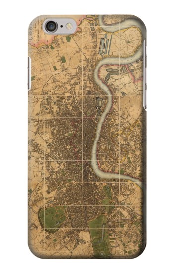 Printed Vintage Map of London Iphone 6 Case
