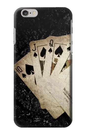 Printed Vintage Royal Straight Flush Cards Iphone 6 Case