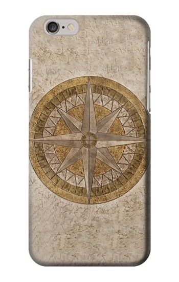 Printed Windrose Circle Stamp Iphone 6 Case
