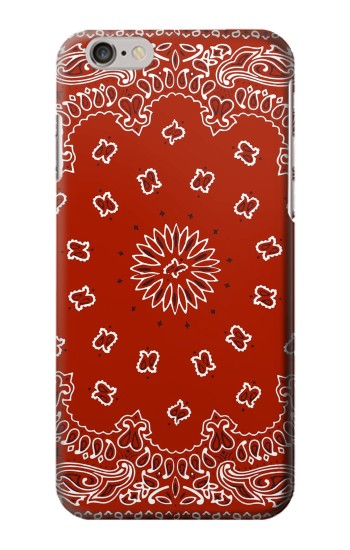 Printed Bandana Red Pattern Iphone 6 Case