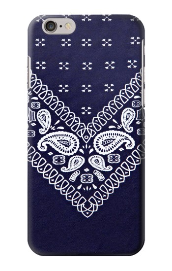 Printed Navy Blue Bandana Pattern Iphone 6 Case