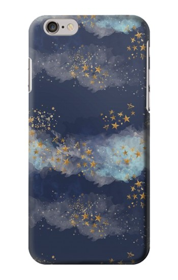 Printed Gold Star Sky Iphone 6 Case