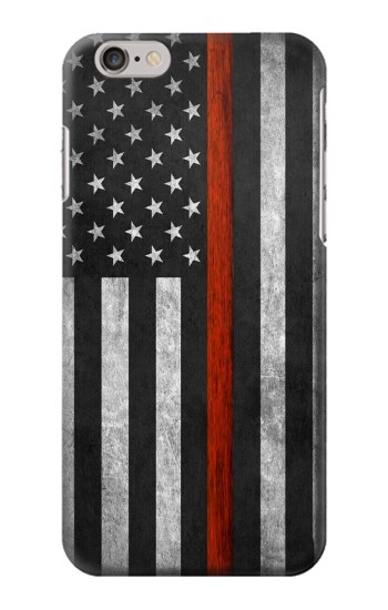 Printed Firefighter Thin Red Line Flag Iphone 6 Case