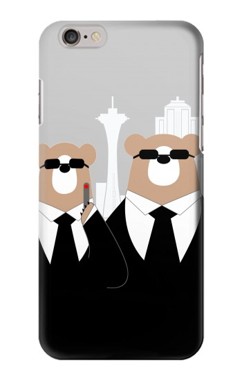 Printed Bear in Black Suit Iphone 6 Case