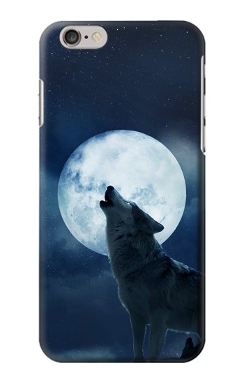 Printed Grim White Wolf Full Moon Iphone 6 Case