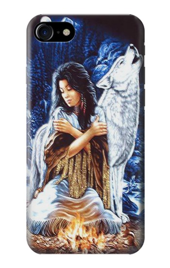 Printed Grim Wolf Indian Girl Iphone 7 Case