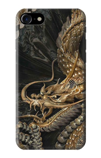 Printed Gold Dragon Iphone 7 Case