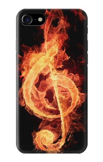 Printed Music Note Burn Iphone 7 Case