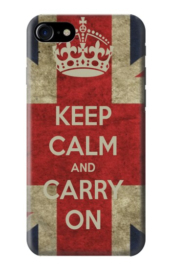 Printed Keep Calm and Carry On Iphone 7 Case