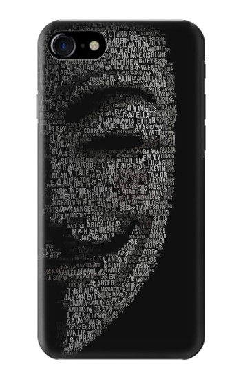 Printed V Mask Guy Fawkes Anonymous Iphone 7 Case