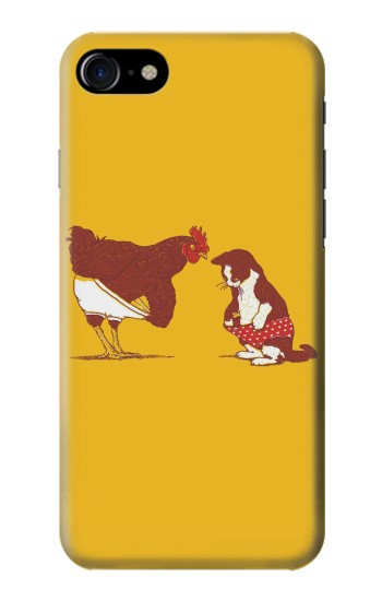Printed Rooster and Cat Joke Iphone 7 Case