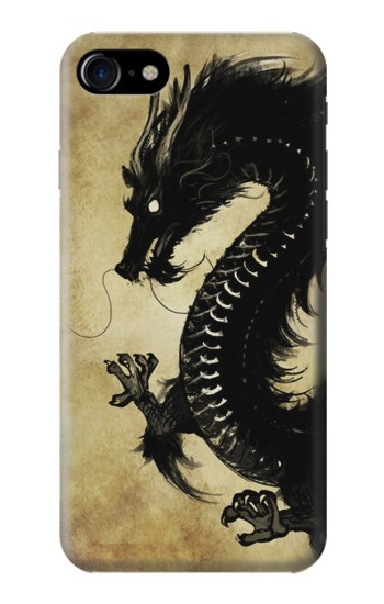 Printed Black Dragon Painting Iphone 7 Case